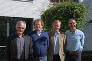V.l.n.r. dhr. Steenbeek (voorzitter), dhr. Beeker, dhr. Hartman en dhr. Witte.